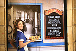Theatre Marquee for Sara Bareilles' return to Broadway's 'Waitress' starring with Jason Mraz at the Brooks Atkinson Theatre on January 16, 2018 in New York City.