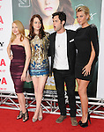 "Patricia Clarkson,Emma Stone,Penn Badgley and Aly Michalka at the Screen Gems' L.A. Premiere of ""Easy A"" held at The Grauman's Chinese Theatre in Hollywood, California on September 13,2010                                                                               © 2010 Hollywood Press Agency"