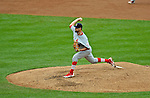 2 September 2012: St. Louis Cardinals relief pitcher Edward Mujica on the mound against the Washington Nationals at Nationals Park in Washington, DC. The Nationals edged out the visiting Cardinals 4-3, capping their 4-game series with three wins. Mandatory Credit: Ed Wolfstein Photo