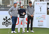 The first group to tee off the 2018 season which includes Tapio Pulkkanen (FIN), Javier Colomo (ESP) and Pedro Oriol (ESP) on the 1st tee during Round 1 of the UBS Hong Kong Open, at Hong Kong golf club, Fanling, Hong Kong. 23/11/2017<br /> Picture: Golffile | Thos Caffrey<br /> <br /> <br /> All photo usage must carry mandatory copyright credit     (&copy; Golffile | Thos Caffrey)