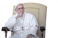 Pope Francis during his weekly general audience in St. Peter square at the Vatican, Wednesday. 8  May 2013