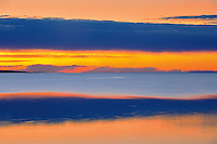 Lesser Slave Lake abstract at sunset<br /> Lesser Slave Lake Provincial Park<br /> Alberta<br /> Canada