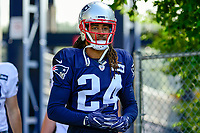 August 1, 2017: New England Patriots cornerback Stephon Gilmore (24) makes his way to the practice field at the New England Patriots training camp held at Gillette Stadium, in Foxborough, Massachusetts. Eric Canha/CSM