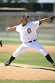 March 21st 2008:  Justin Miller of the Detroit Tigers minor league system during Spring Training at Tiger Town in Lakeland, FL.  Photo by:  Mike Janes/Four Seam Images