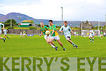 South Kerry's Ian Galvin supported by Aidan 'Dash' O'Sullivan gets ahead of Matthew Galvin of St Kiernans.