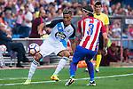 Atletico de Madrid's player Filipe Luis and Deportivo de la Coruña's player Faycal Fajr during a match of La Liga Santander at Vicente Calderon Stadium in Madrid. September 25, Spain. 2016. (ALTERPHOTOS/BorjaB.Hojas)