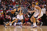 11/28/12 Los Angeles, CA: Minnesota Timberwolves point guard Luke Ridnour #13 during an NBA game between the Los Angeles Clippers and the Minnesota Timberwolves played at Staples Center where the Clippers defeated the Timberwolves 101-95.