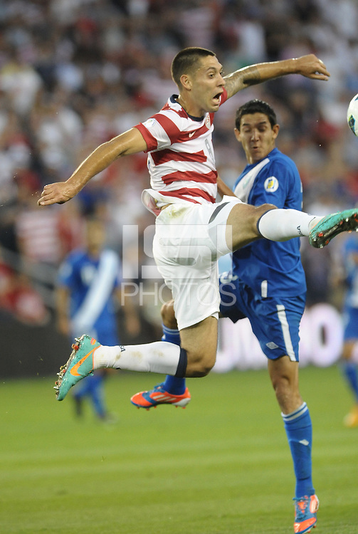U.S midfielder Clint Dempsey in action..USMNT defeated Guatemala 3-1 in World Cup qualifying play at LIVESTRONG Sporting Park, Kansas City, KS.
