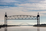 Bridges over the Cape Cod Canal in Bourne, Cape Cod, Massachusetts, USA