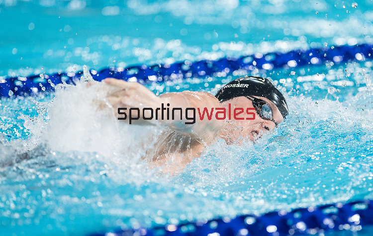 Wales Alex Rosser (para) in action during the Mens S14 200m freestyle<br /> <br /> *This image must be credited to Ian Cook Sportingwales and can only be used in conjunction with this event only*<br /> <br /> 21st Commonwealth Games - Swimming -  Day 1 - 05\04\2018 - Gold Coast Optus Aquatic centre - Gold Coast City - Australia