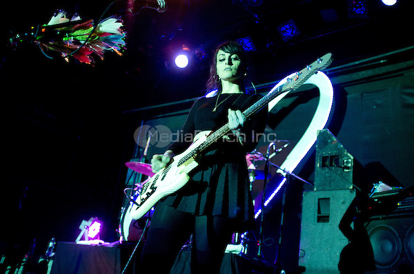 New York, NY - March 25: Sub Pop Records Recording Artists Dum Dum Girls perform to a sold out crowd at The Bowery Ballroom in New York City on March 25, 2014. Photo: RTNPallante/MediaPunch.