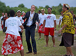 """PRINCE WILLIAM.plays a Tuvaluian game called """"Calle Te Ano"""" Funafuti, Tuvalu_18/09/2012.Mandatory credit photo: ©DIASIMAGES/NEWSPIX INTERNATIONAL..(Failure to credit will incur a surcharge of 100% of reproduction fees)..                **ALL FEES PAYABLE TO: """"NEWSPIX INTERNATIONAL""""**..IMMEDIATE CONFIRMATION OF USAGE REQUIRED:.DiasImages, 31a Chinnery Hill, Bishop's Stortford, ENGLAND CM23 3PS.Tel:+441279 324672  ; Fax: +441279656877.Mobile:  07775681153.e-mail: info@newspixinternational.co.uk"""