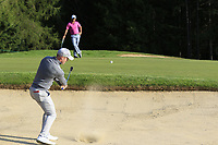 David Horsey (ENG) takes his 2nd chip from a bunker at the 15th green during Thursday's Round 1 of the 2017 Omega European Masters held at Golf Club Crans-Sur-Sierre, Crans Montana, Switzerland. 7th September 2017.<br /> Picture: Eoin Clarke | Golffile<br /> <br /> <br /> All photos usage must carry mandatory copyright credit (&copy; Golffile | Eoin Clarke)
