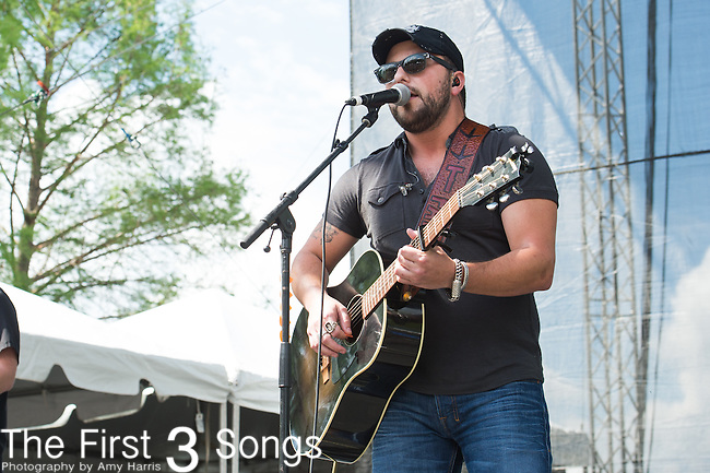 Tyler Farr performs onstage during the ACM Party For A Cause Festival at Globe Life Park on April 18, 2015 in Arlington, Texas.