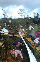 BLOUNTSTOWN, FL. 9/16/04-A doll is covered by debris Thursday near Blountstown. Late Wednesday night a tornado spawned by Hurricane Ivan swept through the neighborhood killing four adults. COLIN HACKLEY PHOTO