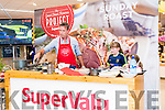 Chief Kevin Dundon during the SuperValu Live Cooking Demo in the Dingle store with two young assistants on Tuesday evening.