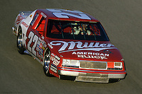 Bobby Allison drives the Miller American Buick during practice for the 1986 NASCAR race at Daytona International Speedway in Daytona Beach, Florida.