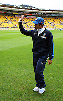 India's Sashin Tendulkar waves to fans during 2nd Twenty20 cricket match match between New Zealand Black Caps and West Indies at Westpac Stadium, Wellington, New Zealand on Friday, 27 February 2009. Photo: Dave Lintott / lintottphoto.co.nz