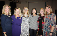 NWA Democrat-Gazette/CARIN SCHOPPMEYER Vanessa Miller (from left), Gracie Ziegler, Beth Emmanuel, Sarah White, Megan Cuddy and Misty Bolton-Samuels, members of the Junior League of Northwest Arkansas attend the Courage Award Luncheon on Oct. 14.