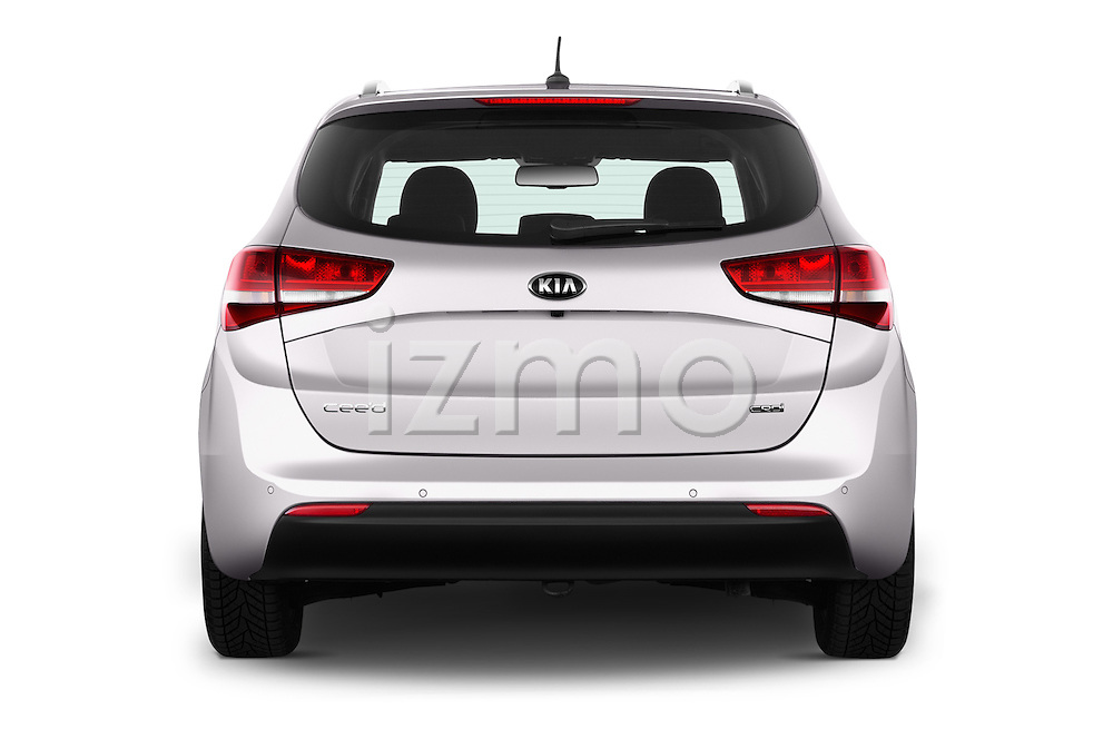 Straight rear view of 2016 KIA Ceed_SW 5 Door Wagon Rear View  stock images