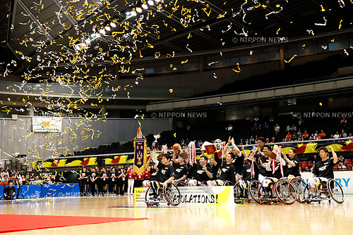 MAX/Miyagi MAX team group (MAX), <br /> MAY 5, 2017 - Wheelchair Basketball : <br /> Japan Wheelchair Basketball Championship<br /> Award ceremony <br /> at Tokyo Metropolitan Gymnasium in Tokyo, Japan. <br /> (Photo by Yohei Osada/AFLO SPORT)