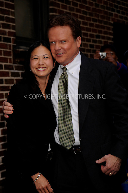 WWW.ACEPIXS.COM . . . . .....May 19, 2008. New York City....Virginia Senator Jim Webb (right) and guest arrive at a taping of 'The Late Show with David Letterman' at the Ed Sullivan Theater...  ....Please byline: Kristin Callahan - ACEPIXS.COM..... *** ***..Ace Pictures, Inc:  ..Philip Vaughan (646) 769 0430..e-mail: info@acepixs.com..web: http://www.acepixs.com