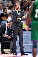 Unicaja Malaga's coach Joan Plaza during match of Liga Endesa at Barclaycard Center in Madrid. September 30, Spain. 2016. (ALTERPHOTOS/BorjaB.Hojas) /NORTEPHOTO.COM