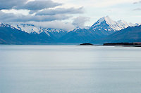 Mount Cook rising above lake Pukaki, New Zealand