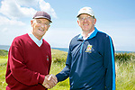 Ollie Kearns, manager Ballybunion, and John Hickey, manager Killarney  at the JB Carr Final Ballybunion v Killarney at Ballybunion Golf Club on Friday.