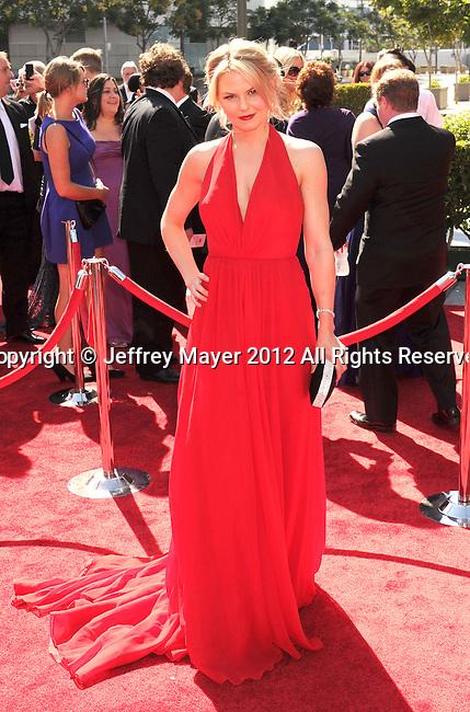 LOS ANGELES, CA - SEPTEMBER 15: Jennifer Morrison arrives at the 2012 Primetime Creative Arts Emmy Awards at Nokia Theatre L.A. Live on September 15, 2012 in Los Angeles, California.