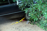 CAMPINAS, SP 26.02.2018-ACIDENTE-Um motorista perdeu o controle do veículo, arrebentou um alambrado e invadiu a escola municipal Dr. Manoel Alves Silva na manhã desta segunda-feira (26) no Jardim Profilurb, na região da Vila Aeroporto em Campinas (SP). O acidente ocorreu por volta das 6h e não havia ninguém no local. (Foto: Denny Cesare/Codigo19)