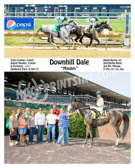 Downhill Dale winning Delaware Park on 6/28/12