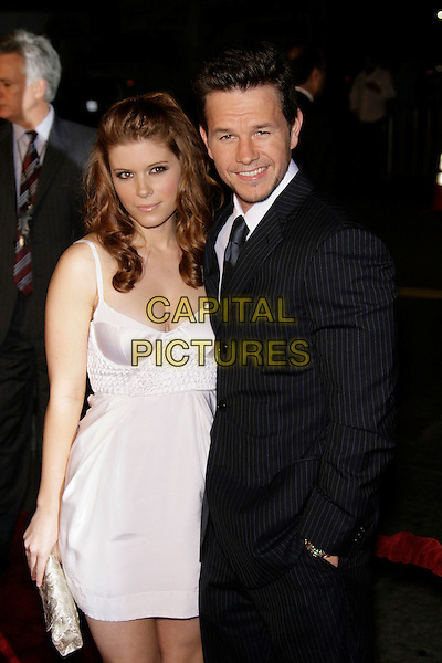 "KATE MARA & MARK WAHLBERG.At the ""Shooter"" Los Angeles Premiere held at Mann Village Theatre, Westwood, California, USA, 08 March 2007..half length white dress couple.CAP/ADM/ZL.©Zach Lipp/AdMedia/Capital Pictures."