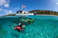 Scuba divers and dive boat<br />