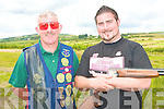 Father and son Pat and Nigel Foley of the Killorglin Gun Club competing in the All Kerry shooting completion at the Knocknagoshel shooting grounds on Saturday.