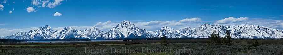 Grand Tetons Panoramic, Grand Tetons National Park, Wyoming