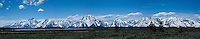Grand Tetons Panoramic, Grand Tetons National Park, Wyoming