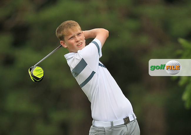 Conor Roe (Powerscourt) on the 16th tee during Round 1 of the 2016 Leinster Boys Amateur Open Championship at Mullingar Golf Club on Tuesday 21st June 2016.<br /> Picture:  Golffile | Thos Caffrey