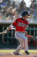 May 2, 2010: Cole Figueroa of the Lake Elsinore Storm during game against the Lancaster JetHawks at Clear Channel Stadium in Lancaster,CA.  Photo by Larry Goren/Four Seam Images