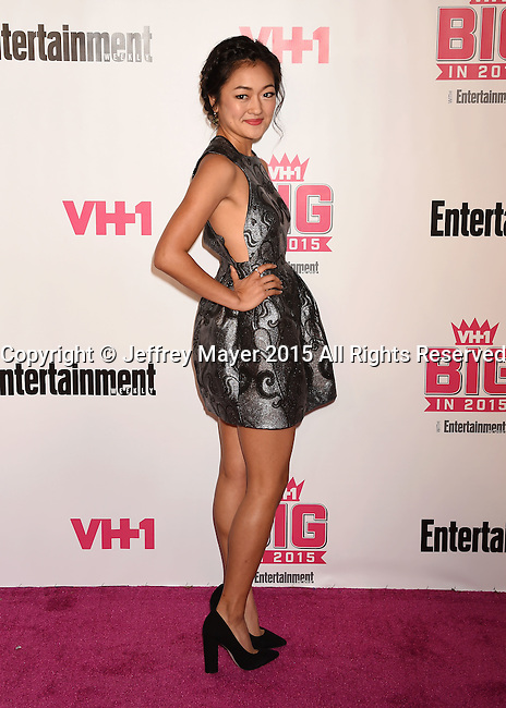 WEST HOLLYWOOD, CA - NOVEMBER 15: Actress Amy Okuda attends VH1 Big In 2015 With Entertainment Weekly Awards at Pacific Design Center on November 15, 2015 in West Hollywood, California.