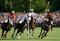A polo match at the Guard's Club, Smith's Lawn, Windsor Great Park.