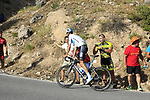 David De La Cruz (ESP) Team Sky on the slopes of Sierra de la Alfaguara near the finish of Stage 4 of the La Vuelta 2018, running 162km from Velez-Malaga to Alfacar, Sierra de la Alfaguara, Andalucia, Spain. 28th August 2018.<br /> Picture: Eoin Clarke   Cyclefile<br /> <br /> <br /> All photos usage must carry mandatory copyright credit (&copy; Cyclefile   Eoin Clarke)