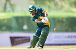 Jerry Nqolo of South Africa hits a shot during Day 2 of Hong Kong Cricket World Sixes 2017  match between South Africa vs Sri Lanka at Kowloon Cricket Club on 29 October 2017, in Hong Kong, China. Photo by Yu Chun Christopher Wong / Power Sport Images