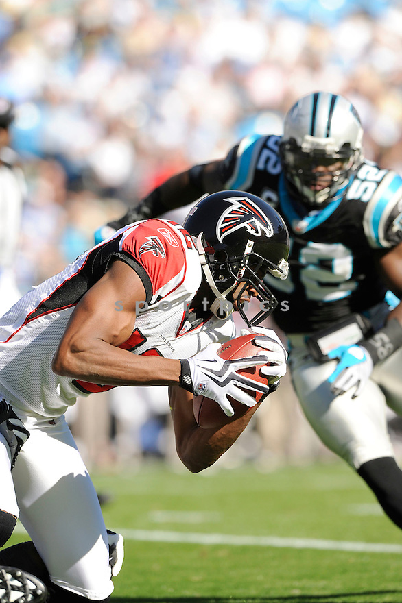MICHAEL JENKINS, of the Atlanta Falcons, in action during the Falcons game against the Carolina Panthers on November 15, 2009 in Charlotte, NC. Panthers won 28-19.