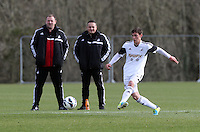 Pictured: Coach Kristian O'Leary. Tuesday 04 March 2014<br /> Re: Under 21 friendly Swansea City FC v Yeovil at Fairwood Common Training Ground, south Wales.