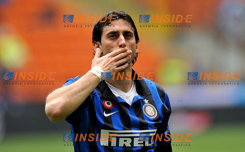 "Diego MILITO (Inter).Milano 18/03/2012 Stadio ""Giuseppe Meazza"".Serie A 2011/2012.Football Calcio Inter Vs Atalanta.Foto Insidefoto Alessandro Sabattini."