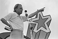 "June 17th 1972, Dallas, Texas, USA. The Explo 1972 was an evangelical conference and festival that took place in Dallas, Texas, from June 12 to June 17. The event was sponsored by the Campus Crusade for Christ and organized by Paul Eshleman. A crowd of 80,000 mostly young people from over 75 countries congregated to praise Jesus. An even larger crowd of 180,000 came to the nine-hour rock festival that closed the festivities. A common sight throughout the event was the up-pointed fingers amid a sea of raised arms that symbolized Jesus as being ""the one way"", and that the message was loud and clear. The American evangelist Billy Graham spoke six different times at the event, which he described as ""a religious Woodstock""."