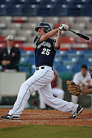 March 21, 2010:  First Baseman John Cameron (25) of the Genesee Community College Cougars during a game at Holman Stadium at Dodgertown in Vero Beach, FL.  Photo By Mike Janes/Four Seam Images