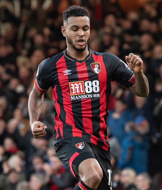 Bournemouth's Joshua King celebrates scoring his side's first goal <br /> <br /> Photographer David Horton/CameraSport<br /> <br /> The Premier League - Bournemouth v Arsenal - Sunday 25th November 2018 - Vitality Stadium - Bournemouth<br /> <br /> World Copyright © 2018 CameraSport. All rights reserved. 43 Linden Ave. Countesthorpe. Leicester. England. LE8 5PG - Tel: +44 (0) 116 277 4147 - admin@camerasport.com - www.camerasport.com
