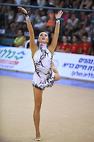 Anna Alyabyeva of Kazakhstan performs with hoop during event finals at 2010 Holon Grand Prix at Holon, Israel on September 4, 2010.  (Photo by Tom Theobald).